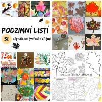 Podzimní listí - 31 návodů na tvoření pro děti