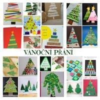 Vánoční přání - motiv vánoční stromeček
